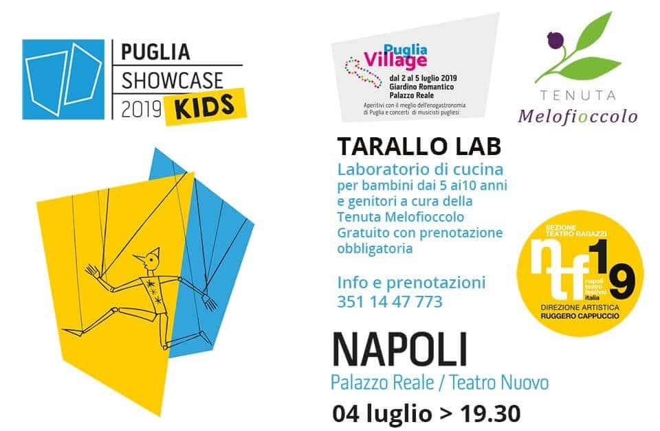 PSC kids con Puglia Village Napoli Teatro Festival 2019 Tenuta Melofioccolo
