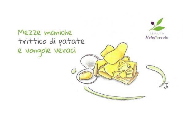 ricetta mezze maniche patate vongole tenuta melofioccolo napoli