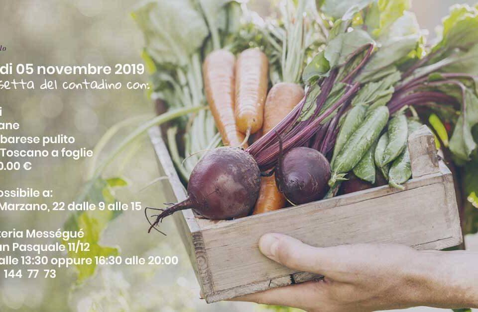 l immagine illustra la Cassetta del contadino 5 novembre tenuta melofioccolo napoli, una selezione di prodotti biologici a km0 che viene prodotta nella tenuta melofioccolo di napoli