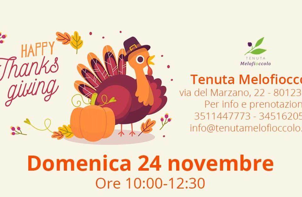 happy thanksgiving Tenuta Melofioccolo napoli fattoria didattica