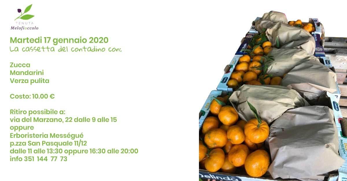 Cassetta del contadino tenuta melofioccolo 17 gennaio 2020 napoli mandarini