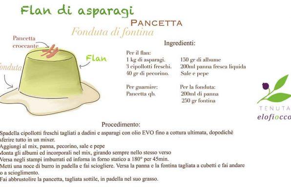 Flan agli asparagi e pancetta croccante Tenuta Melofioccolo